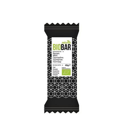 Naturals BioBar με Μέλι, Γκουαρανά, Τζίνσενγκ, Τζίντζερ 40gr