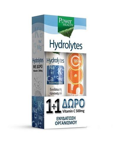 Power Health Hydrolytes 20 Αναβράζοντα δισκία + Δώρο Vitamin C 500mg 20tabs