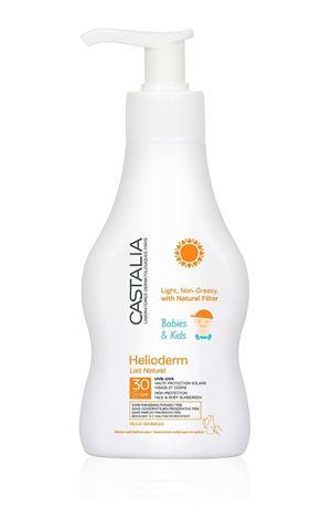 Castalia Helioderm Αντηλιακό γαλάκτωμα SPF 30, ελαφριά μη λιπαρή υφή, χωρίς άρωμα, για παιδιά & βρέφη άνω των 6 μηνών, 200ml