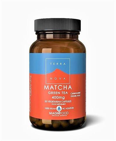 Terranova Matcha Green Tea  400mg (organic-Ceremonial Grade AAA) 50 Φυτικές Κάψουλες