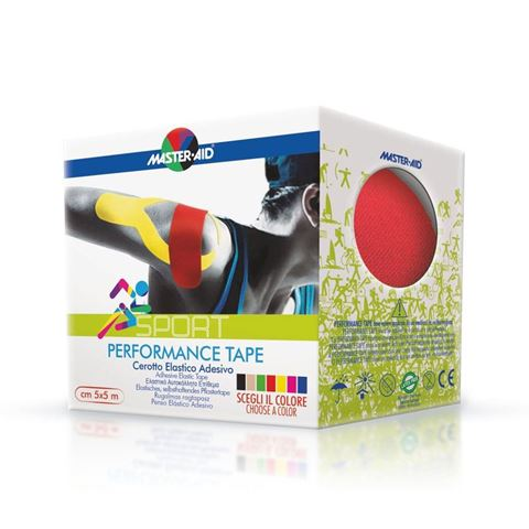 Master Aid Performance Kinesio Tape Red 5cm x 5m
