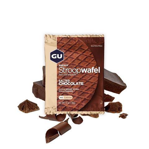 """Ενεργειακές Βάφλες – GU Energy Waffles """"Stroopwafel""""  Salted Chocolate, 30γρ GLUTEN-FREE"""