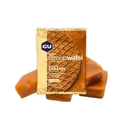 """Ενεργειακές Βάφλες – GU Energy Waffles """"Stroopwafel""""  Saltys Caramel, 30γρ"""