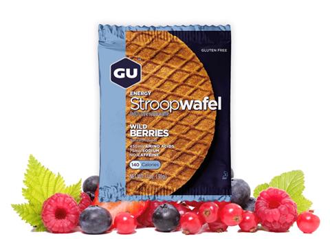 """Ενεργειακές Βάφλες – GU Energy Waffles """"Stroopwafel""""  Wild Berries, 30γρ GLUTEN-FREE"""