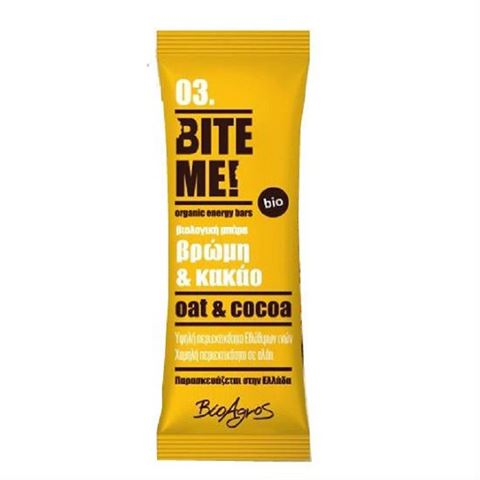 Bite Me Μπάρα Βρώμης Κακάο ΒΙΟ 40 γρ