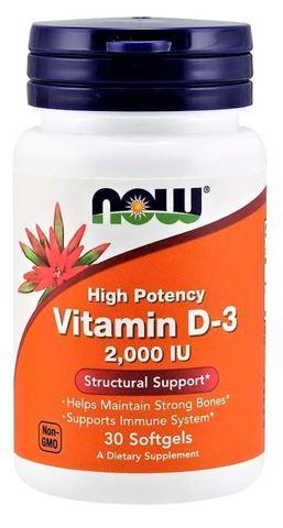 Now Foods Vitamin D3, 2.000 IU, 30 Μαλακές Κάψουλες
