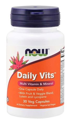Now Foods Daily Vits Vitamin - 30 Ταμπλέτες
