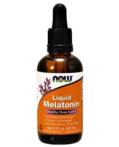 Now Foods Melatonin 3mg, Liquid - 60 ml