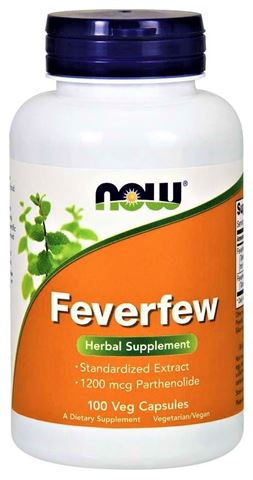 Now Foods Feverfew 400 mg, (0,3% Parthenolide) - 100  Κάψουλες