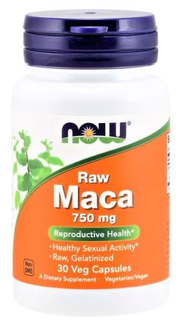 Now Foods Maca 750 mg Raw, 90 Φυτικές Κάψουλες