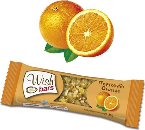 Wish Bar Πορτοκάλι 25g, 1 Τεμάχιο