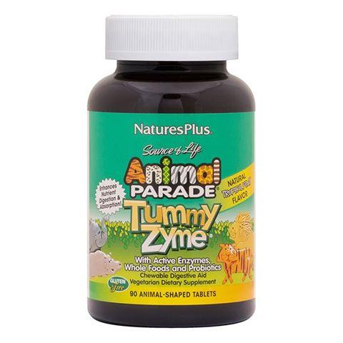 Nature's Plus Animal Parade Tummyzyme 90 Μασώμενες Ταμπλέτες