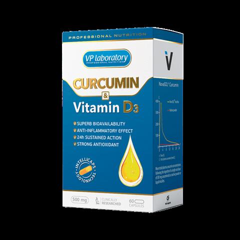 VP Laboratory Curcumin & Vitamin D3 500mg 60caps