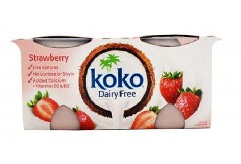 Koko Dairy Επιδόρπιο γιαουρτιού καρύδα φράουλα 2 X 125gr