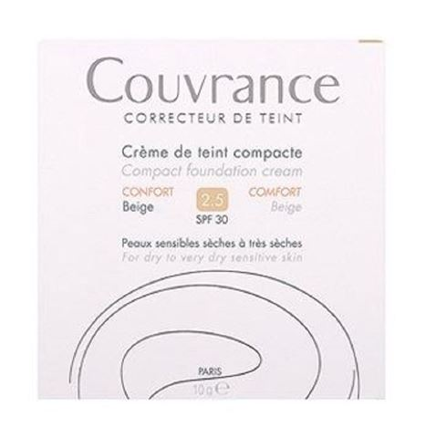 Avene Couvrance Compact Foundation, Beige 2.5, SPF30, 10γρ
