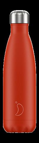 Chillys Neon Red Παγούρι από Ανοξείδωτο Ατσάλι 500ml