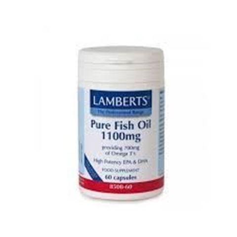 Lamberts Pure Fish Oil 1100mg 60 Κάψουλες
