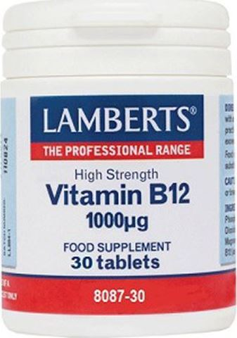 Lamberts Vitamin B12 1000μg, 30 Ταμπλέτες