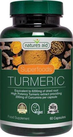 Natures Aid Turmeric 400mg (95% Curcumins) - 60 Φυτικές Κάψουλες