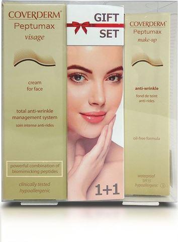 Coverderm Gift Set με Peptumax Visage Κρέμα, 30ml και Peptumax Make Up Anti-Wrinkle SPF15 Make Up No.3, 30ml