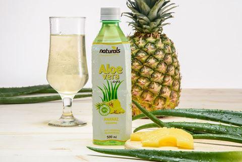 Naturals Aloe Vera με Γεύση Ανανά Natural 30% Πολτός, 500ml