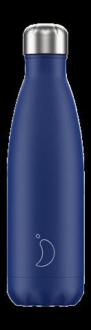 Chillys Matte Blue Παγούρι από Ανοξείδωτο Ατσάλι 500ml