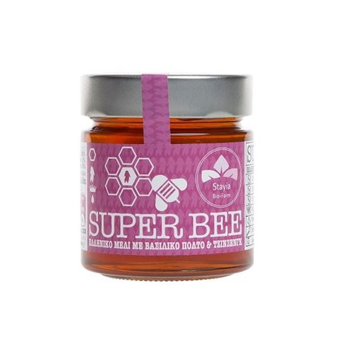 Super Βee Ελληνικό Μέλι Δάσους με Βασιλικό Πολτό και Τζινσενγκ