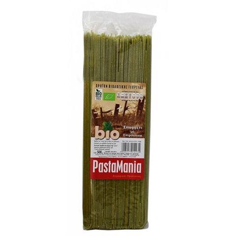 Pastamania Σπαγγέτι με Σπιρουλίνα BIO 500gr