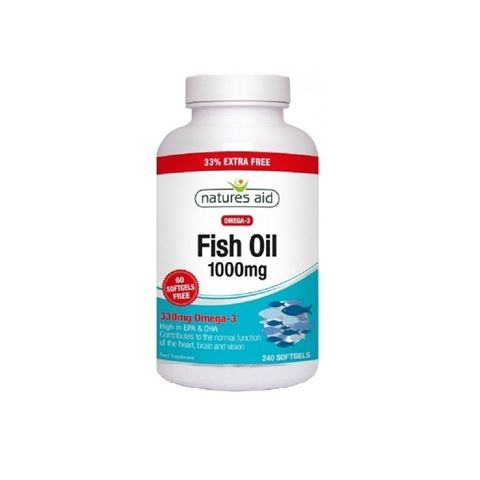 Natures Aid Fish Oil 1000mg (Omega-3) 240 Μαλακές Κάψουλες