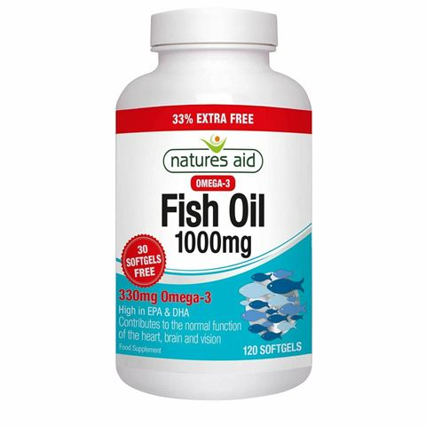 Natures Aid Fish Oil 1000mg (Omega-3) 120 Μαλακές Κάψουλες