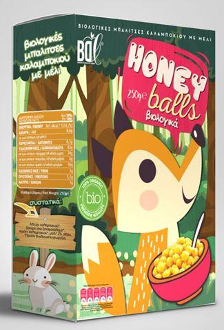 Βιολογικές Μπαλίτσες Καλαμποκιού με μέλι BDL 250gr