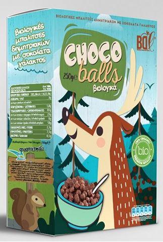 Βιολογικές Μπαλίτσες Δημητριακών με Σοκολάτα Γάλακτος BDL 250gr