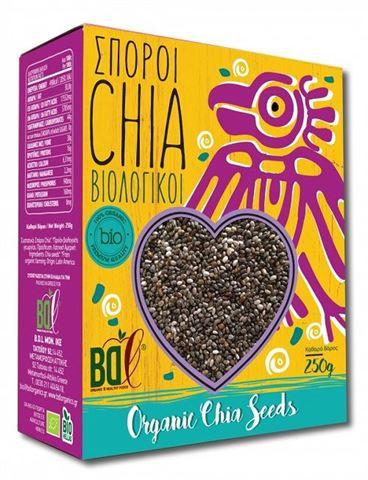 Βιολογικοί Σπόροι Chia BDL 250gr