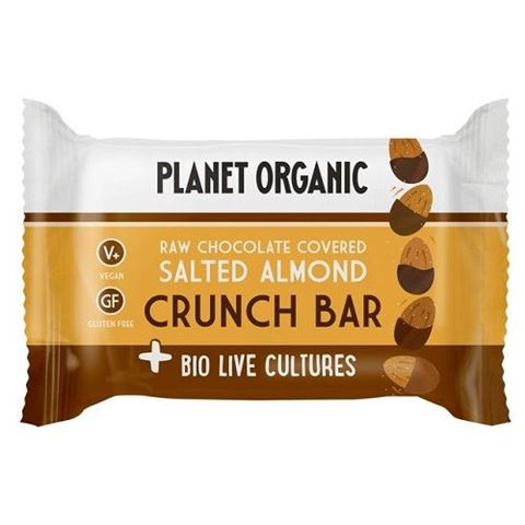 Salted Almond Biolive Choc Crunch Bar, 40gr