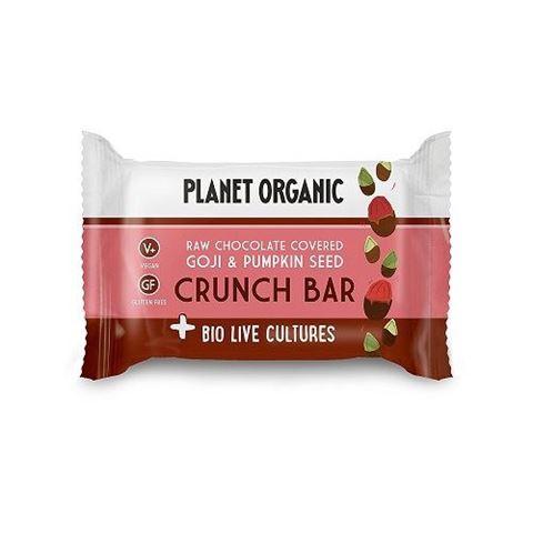 Goji Pumpkin Seed Biolive Choc Crunch Bar, 40gr