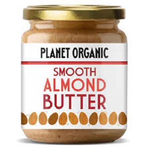 Planet Organic Smooth Almond Butter, 170gr