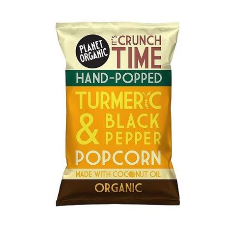 Planet Organic Turmeric & Black Pepper Popcorn 20gr