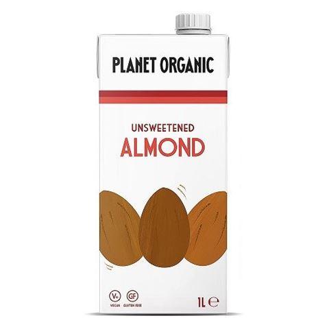 Planet Organic Unsweetend Almond Milk, 1lt