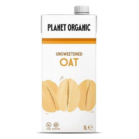 Planet Organic Unsweetend Oat Milk, 1lt
