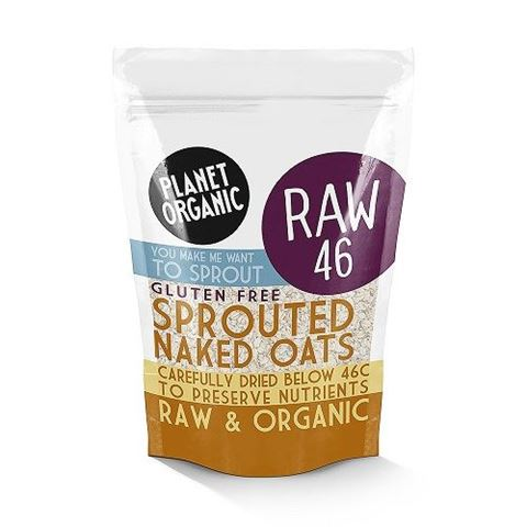 Planet Organic Sprouted Rolled Naked Oats 300gr