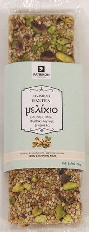 PATRIKON Παστελι Μέλι-Σουσάμι-Κανέλα-Φυστίκι Αιγίνης, 75gr