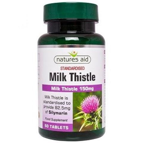 Natures Aid Milk Thistle 150mg 199720, 60 tabs