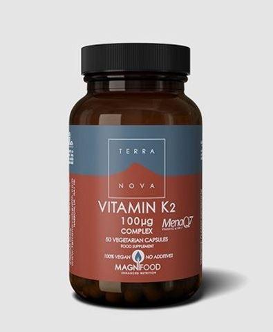 Terranova Vitamin K2 (as MenaQ7®) 100µg Complex, 50caps
