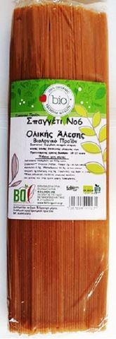 Βιολογικά Ζυμαρικά Σπαγγέτι Ολικής Νο6 BDL 500gr
