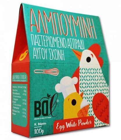 Αλμπουμίνη Παστεριωμένο Ασπράδι Αυγού σε Σκόνη BDL 100gr