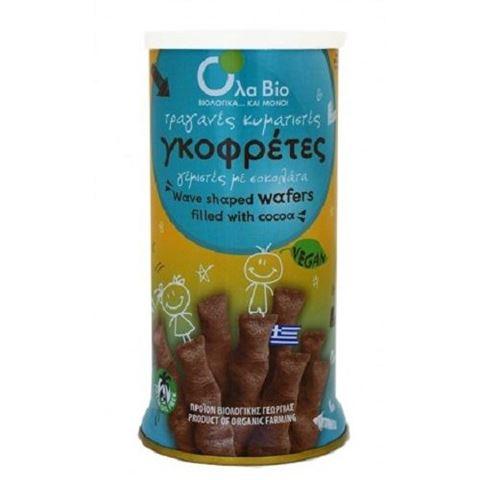 Όλα Βίο Γκοφρέτες γεμιστές με σοκολάτα (Πουράκια) Vegan ΒΙΟ 140gr