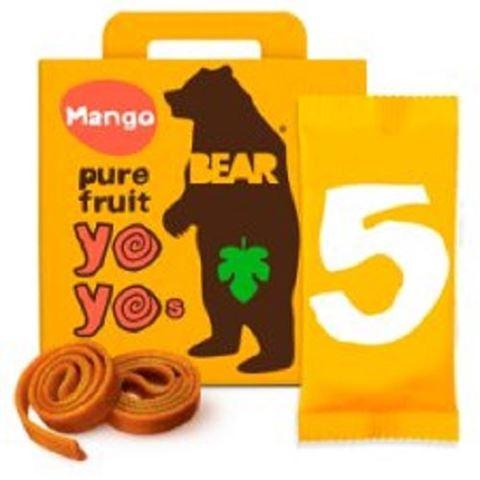 BARE Yoyos Σνακ από Αποξηραμένο Μάνγκο 5X20 gr