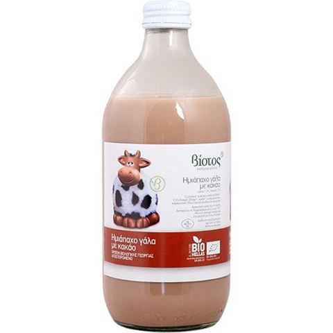 Βιότοπος Βιολογικό Ημιάπαχο Γάλα με Κακάο χωρις Γλουτένη 500 ml