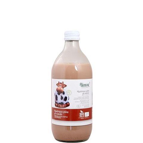 Βιότοπος Βιολογικό Ημιάπαχο Γάλα με Κακάο χωρις Γλουτένη 250 ml