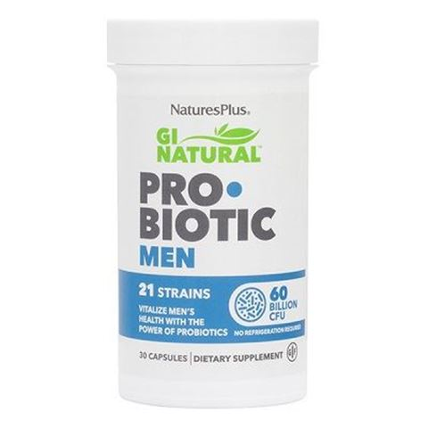 Nature's Plus GI Natural Pro•Biotic Men, 30 κάψουλες